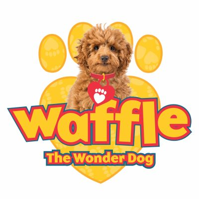 Waffle the wonder dog logo