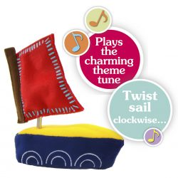 Igglepiggle with Wind up Musical Boat