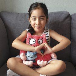 Love Monster Giggle and Hug Soft Toy