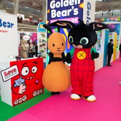 bing and flop at the toyfair
