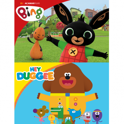 Highly Commended Certificate given to Golden Bear Toys for Hey Duggee and Bing by TRA's Toy of the Year Awards