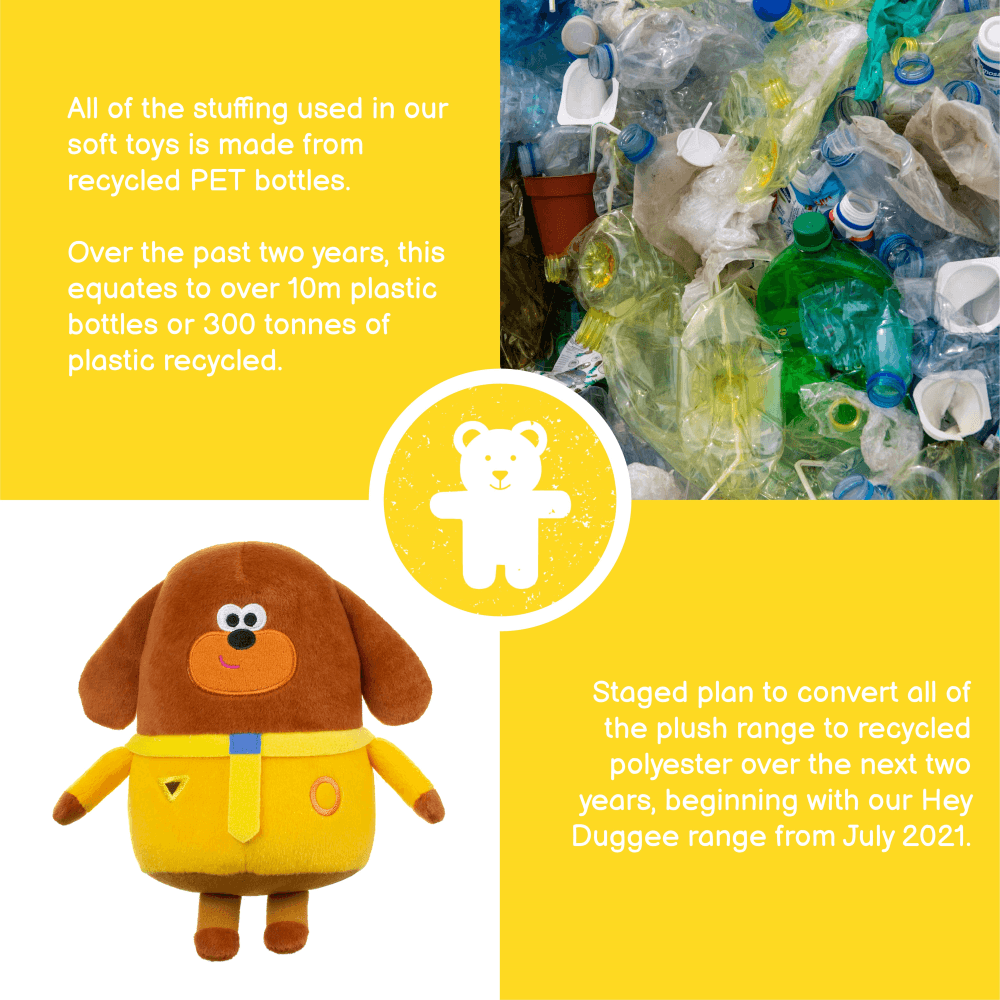 Golden bear sustainable toys with recycled stuffing