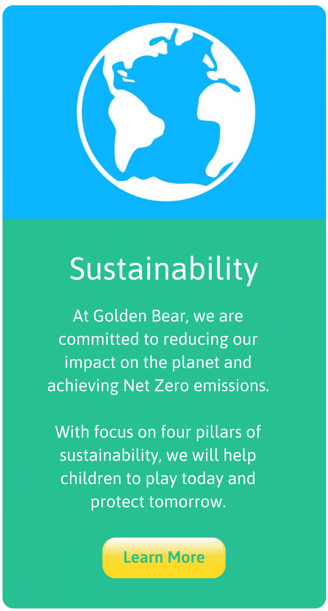 Golden Bear Toys are committed to becoming sustainable and achieving net zero emissions and protecting the planet